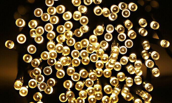 5 סט 7 שרשראות תאורה סולארית באורך 4.5 או 7 מטר