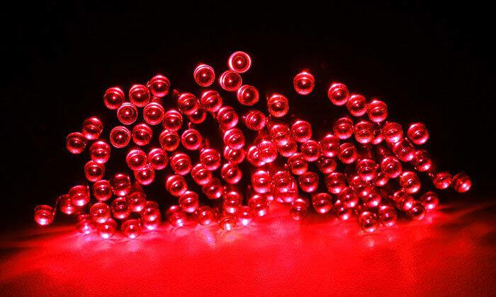 8 סט 7 שרשראות תאורה סולארית באורך 4.5 או 7 מטר