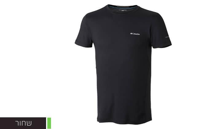 3 חולצה קצרה מנדפת זיעה לגברים Columbia