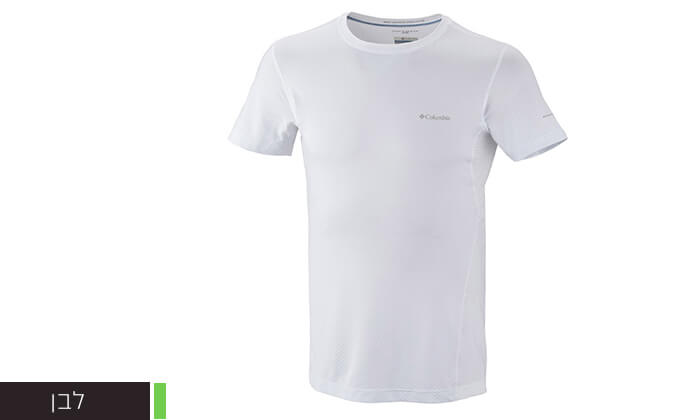 4 חולצה קצרה מנדפת זיעה לגברים Columbia