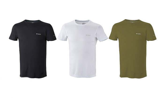 6 חולצה קצרה מנדפת זיעה לגברים Columbia