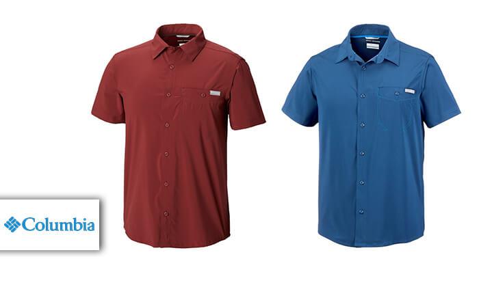 2 חולצה מכופתרת קצרה לגברים Columbia