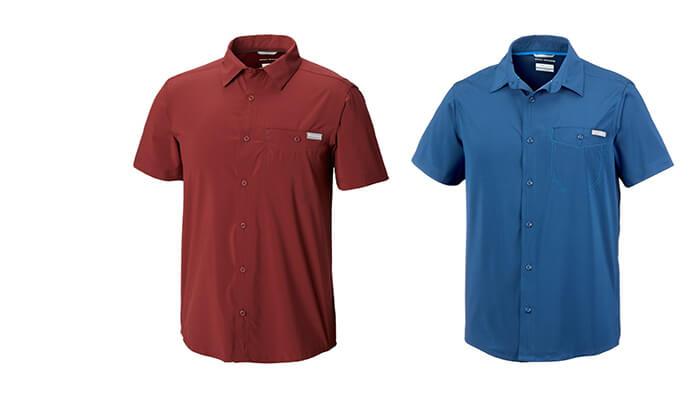 5 חולצה מכופתרת קצרה לגברים Columbia
