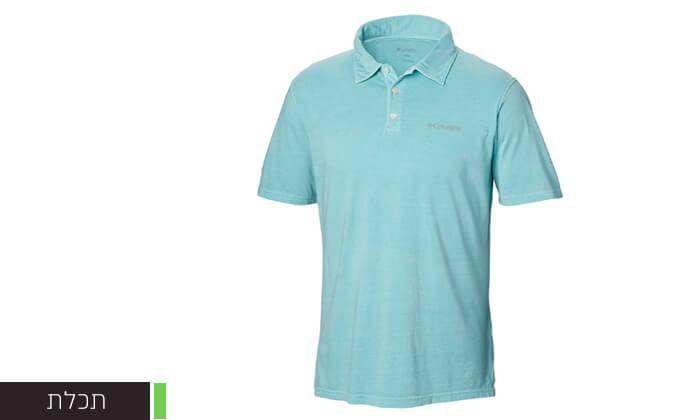 3 חולצת פולו קצרה לגברים Columbia