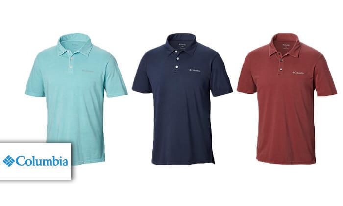 2 חולצת פולו קצרה לגברים Columbia