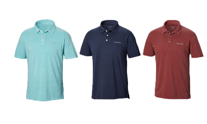 6 חולצת פולו קצרה לגברים Columbia