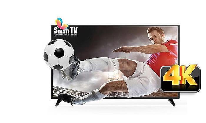 2 טלוויזיה חכמה 4K FUJICOM, מסך 55 אינץ'