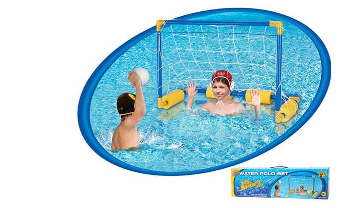 4 מתקן כדורגל וכדורסל צפים לבריכה