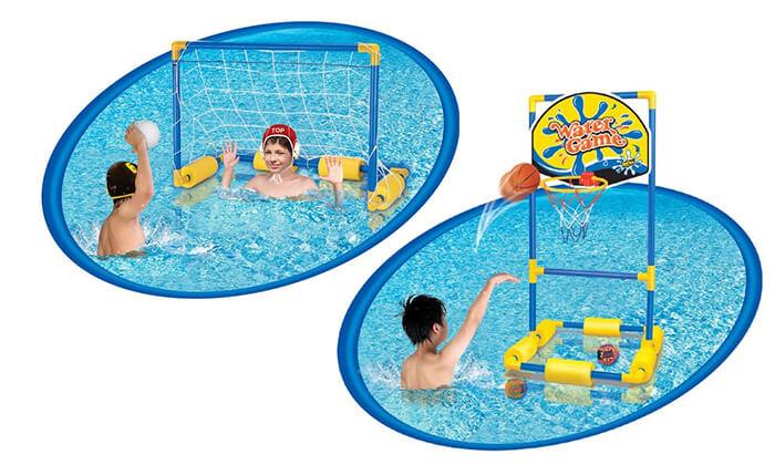 3 מתקן כדורגל וכדורסל צפים לבריכה