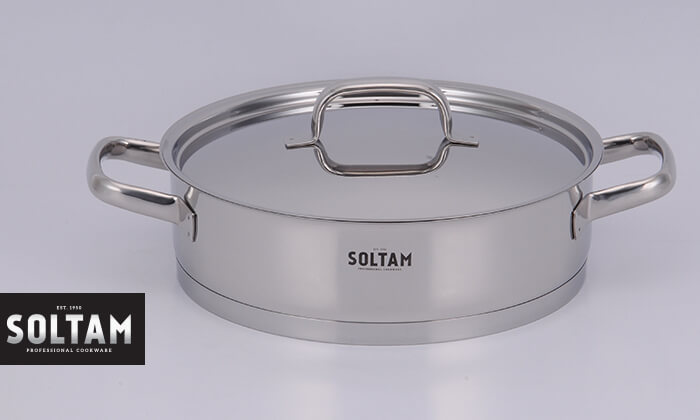 """2 סולתם SOLTAM: סיר סוטאז' 28 ס""""מ"""