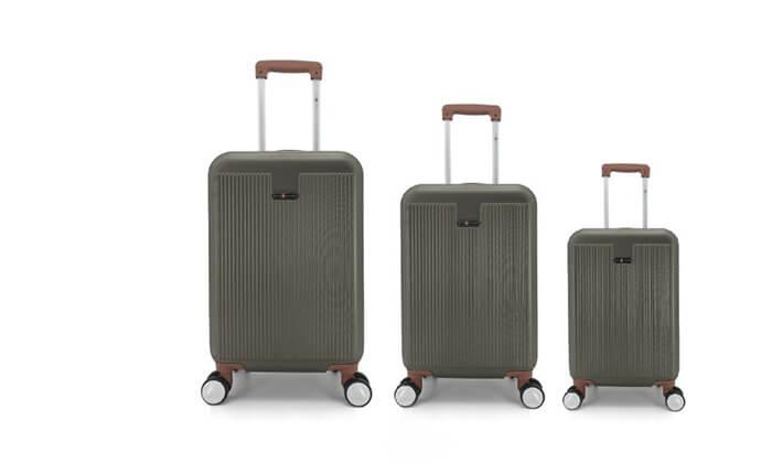 13 סט 3מזוודותקשיחות SWISS PLAZA