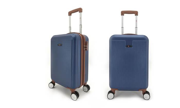 8 סט 3מזוודותקשיחות SWISS PLAZA