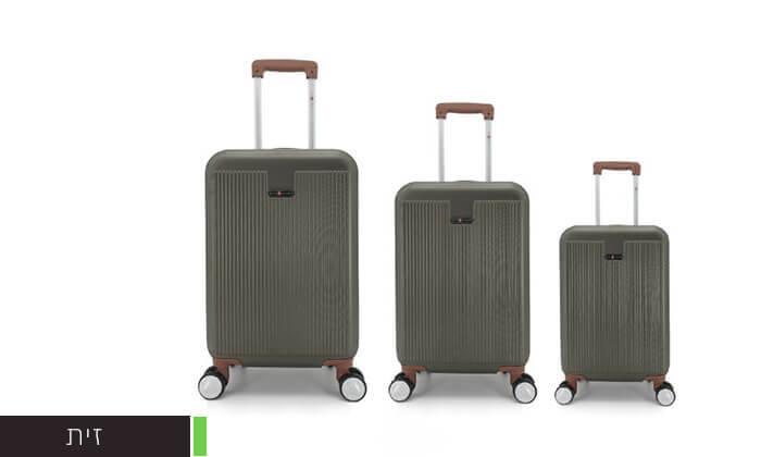 6 סט 3מזוודותקשיחות SWISS PLAZA