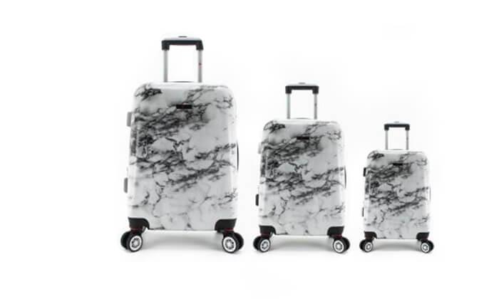 9 סט 3מזוודותקשיחות SWISS PARIS