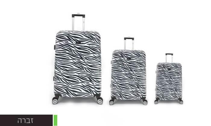 3 סט 3מזוודותקשיחות SWISS PARIS