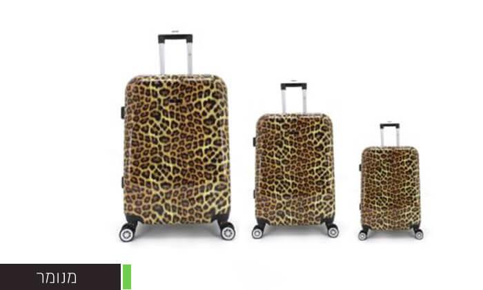 4 סט 3מזוודותקשיחות SWISS PARIS