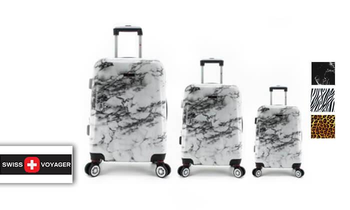 2 סט 3מזוודותקשיחות SWISS PARIS