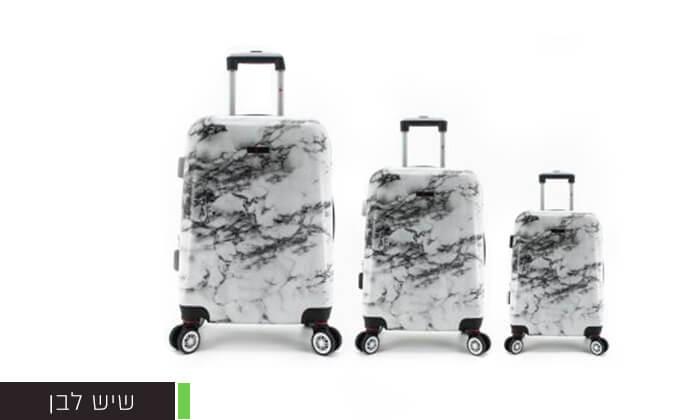 5 סט 3מזוודותקשיחות SWISS PARIS