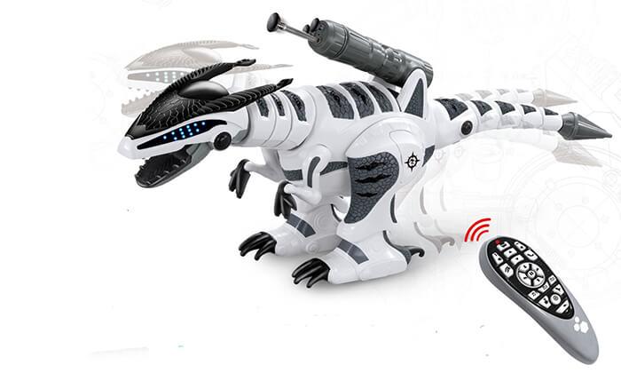 2 רובוט דינוזאור עם שלט אלחוטי