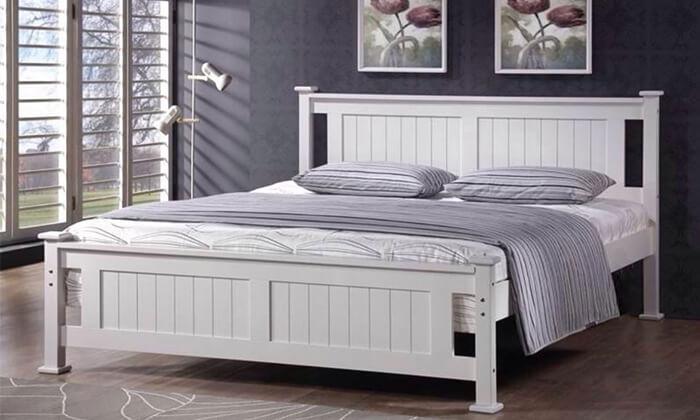 7 מיטה זוגית מעץ מלא BRADEX