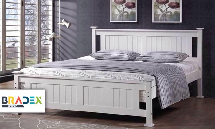 2 מיטה זוגית מעץ מלא BRADEX