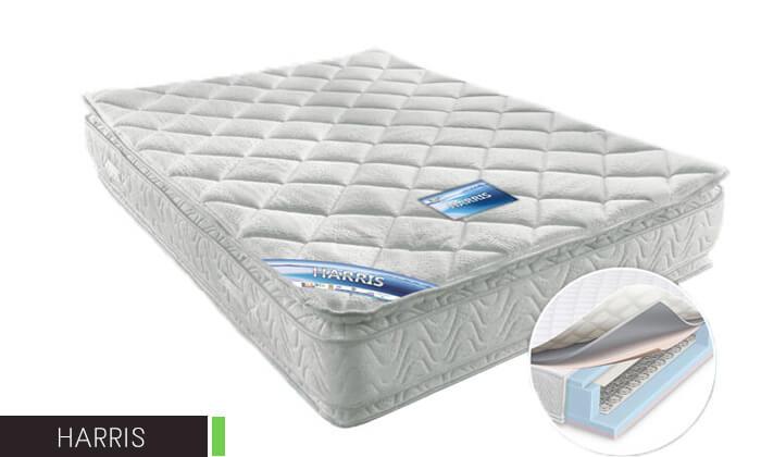4 מיטה זוגית מעץ מלא BRADEX
