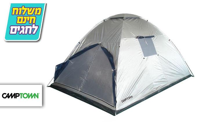 2 אוהל משפחתי CAMPTOWN-משלוח חינם!