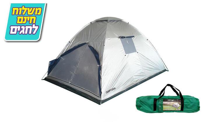 3 אוהל משפחתי CAMPTOWN-משלוח חינם!