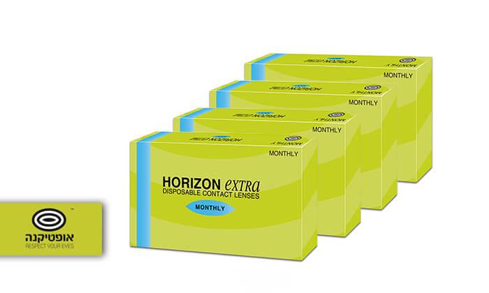 2  4 אריזות של עדשות מגע חודשיות HORIZONEXTRA ברשת אופטיקנה