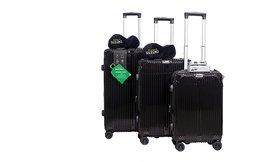 סט 3 מזוודות עם 2 כריות ומשקל