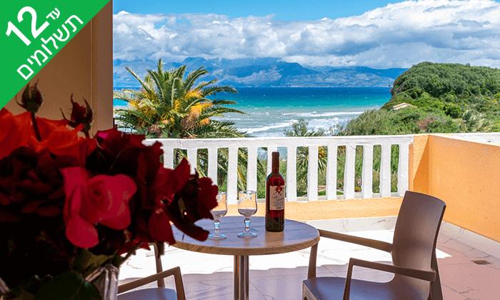 5 יולי-אוגוסט באי היווני קורפו - גן עדן כחול ירוק במרחק שעתיים טיסה