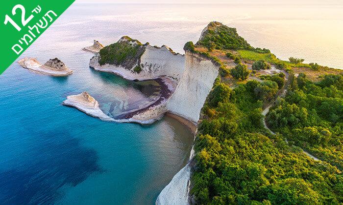10 יולי-אוגוסט באי היווני קורפו - גן עדן כחול ירוק במרחק שעתיים טיסה