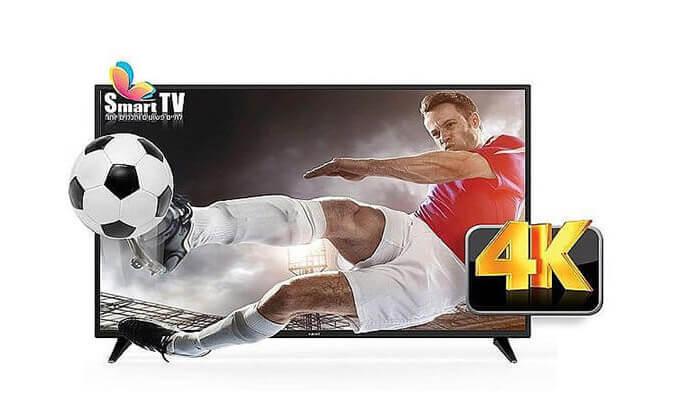 """2 טלוויזיה חכמה 4K פוג'יקום """"65 מדגם FUJICOM FJ-65UHD"""