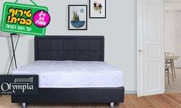 מיטה מרופדת עם מזרן אורותפדי