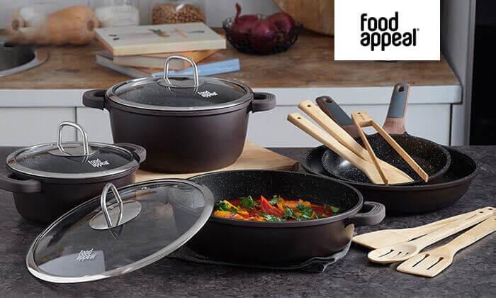 2 Food Appeal - סט סירים, מחבתות וכלי ששת