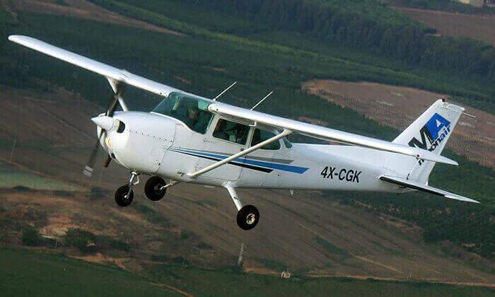 4 בית הספר לטיסה Moonair בשדה התעופה הרצליה - טייס ליום אחד ליחיד או לזוג
