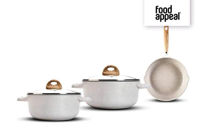 2 Food Appeal - מארז 5 חלקים הכולל זוג סירים ומחבת
