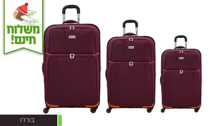 3 סט 3 מזוודות בדSWISS - משלוח חינם