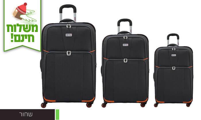 4 סט 3 מזוודות בדSWISS - משלוח חינם