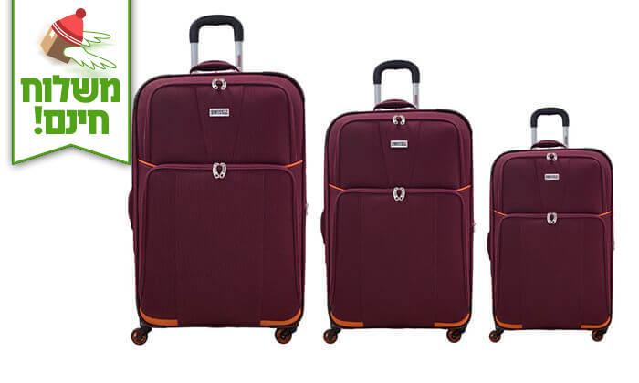 6 סט 3 מזוודות בדSWISS - משלוח חינם