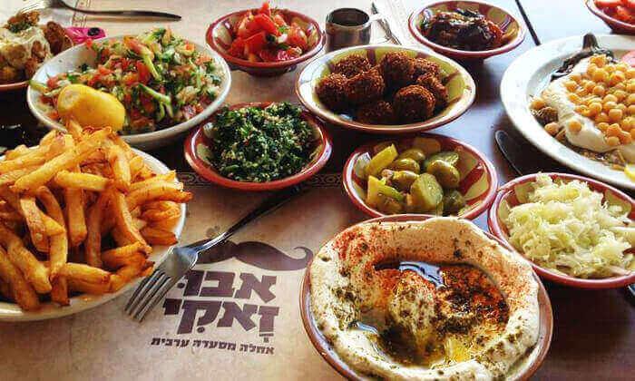9 מסעדת אבו זאקי בבן יהודה, תל אביב - ארוחה לזוג