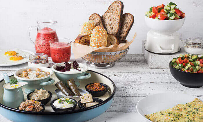3 פרש קיטשן בתל אביב - ארוחת בוקר משודרגת וכשרה לזוג