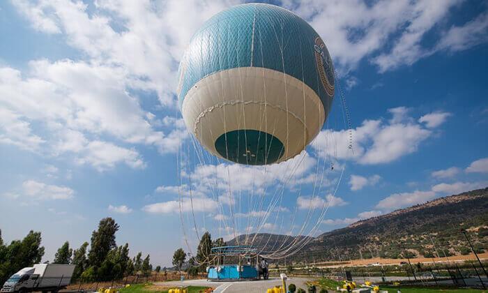 2 לעוף על הגליל - טיסה עם כדור פורח מעל עמק החולה