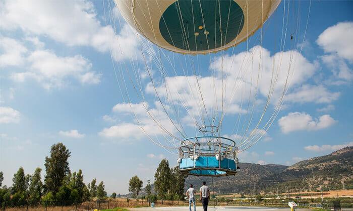 4 לעוף על הגליל - טיסה עם כדור פורח מעל עמק החולה