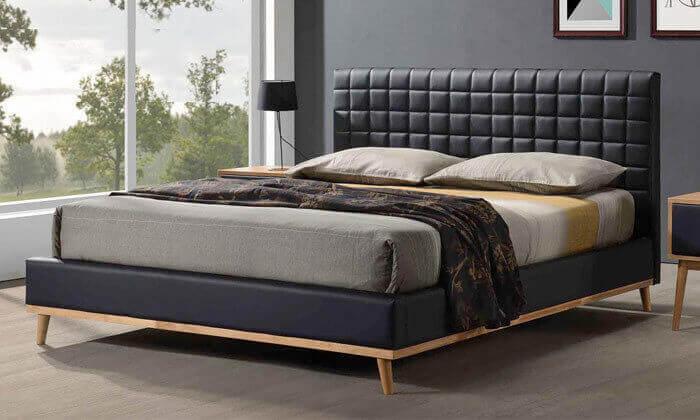 6 מיטה זוגית מרופדת שמרת הזורע - דגם טורנדו