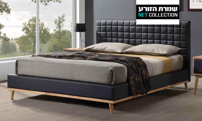 2 מיטה זוגית מרופדת שמרת הזורע - דגם טורנדו