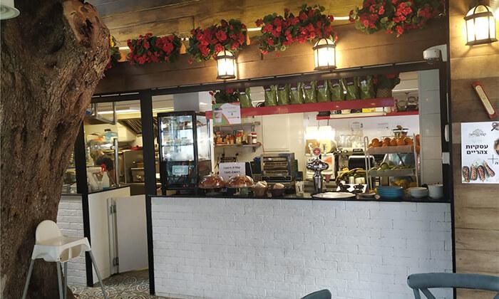 4 קפה היינה בכיכר היינה, חיפה - ארוחת בוקר זוגית