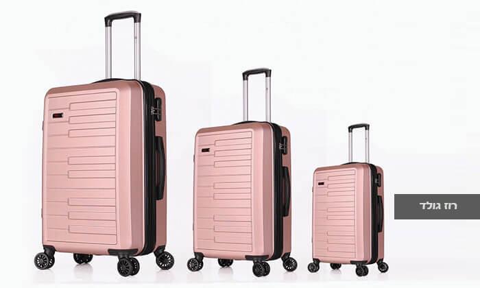 6 3 מזוודות קשיחות SWISS דגם ברלין