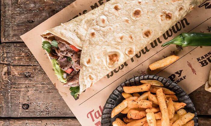 """3 מסעדת קרנף הכשרה - ארוחה ליחיד בסניף לונדון מיניסטור, ת""""א"""