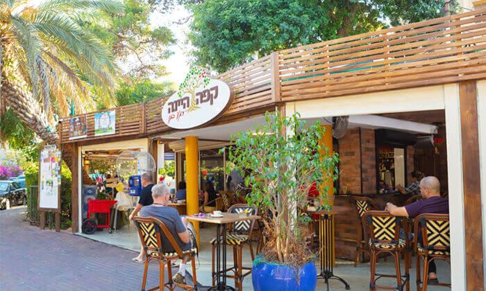 8 ארוחת בוקר לזוג בקפה היינה, כיכר היינה חיפה